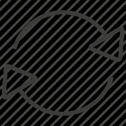 refresh, reload, renew, synchronize icon