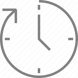 clock, clockwise, history, time, timer, watch icon