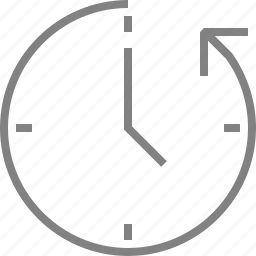anticlockwise, arrow, clock, history, time icon