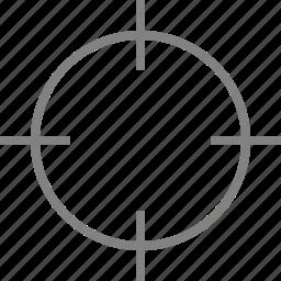 aim, bullseye, focus, goal, gunsight, target, targeting icon
