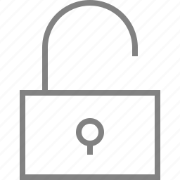 lock, open, password, secure, security, unlock icon