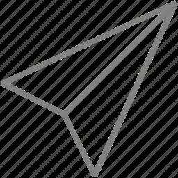 airplane, paper, paperplane, plane, send icon