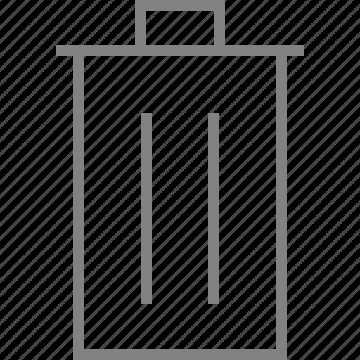 bin, cancel, delete, recycle, remove, trash, trashcan icon