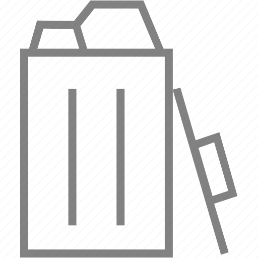 bin, delete, full, recycle, remove, trash, trashcan icon