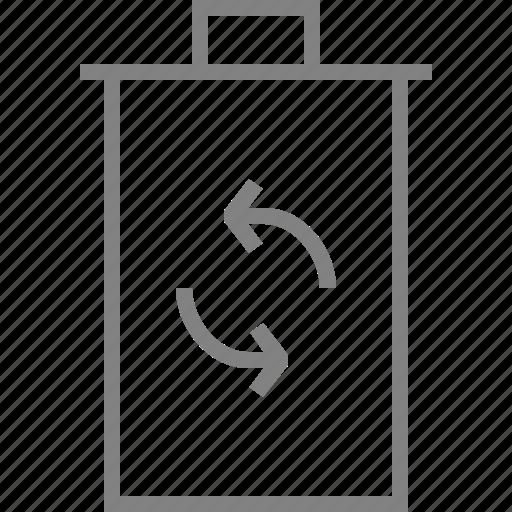 arrow, refresh, restore, trashcan icon