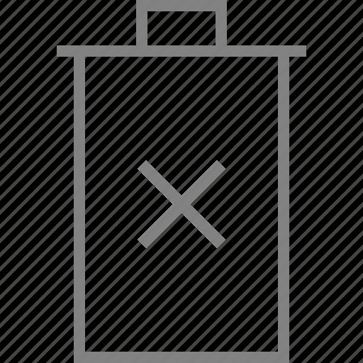 cancel, cross, delete, minus, remove, trash, trashcan icon