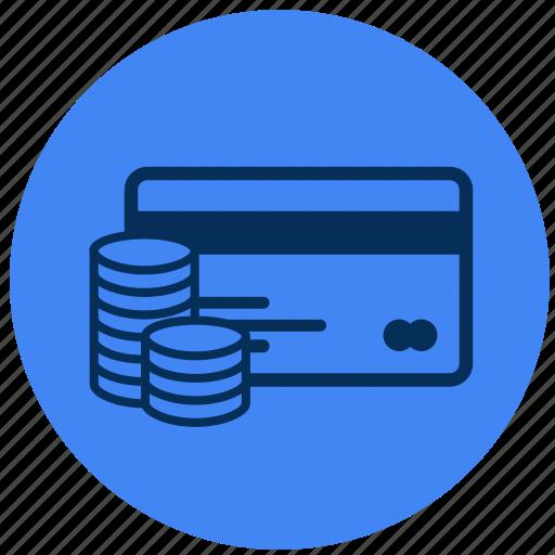 card, cash, credit, online icon