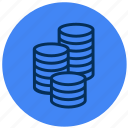 cash, coins, finance, money icon