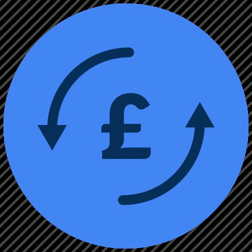 change, money, uk, £ icon