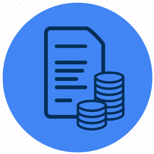 document, legal, money, payment icon