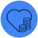 heart, love, money icon