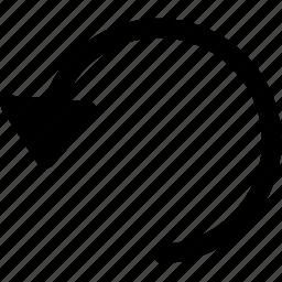 arrow, arrows, back, left, rotate, undo icon