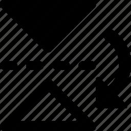 arrow, down, left, move icon