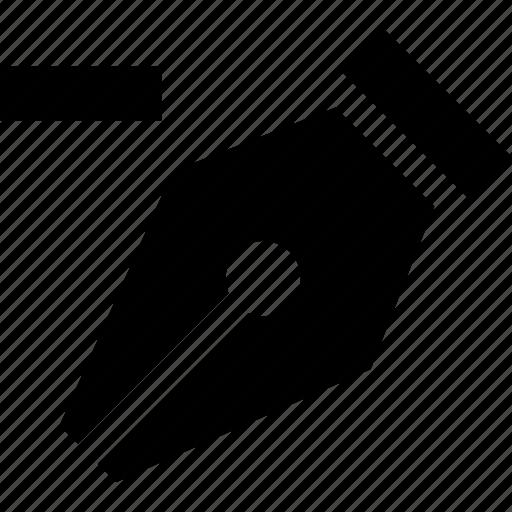 anchor, art, design, edit, pen, remove anchor icon