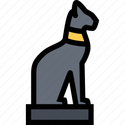 cat, civilization, culture, egypt, nation icon