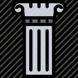 civilization, column, culture, greece, nation icon