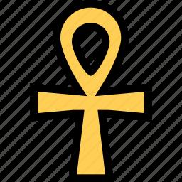 civilization, cross, culture, egypt, nation icon
