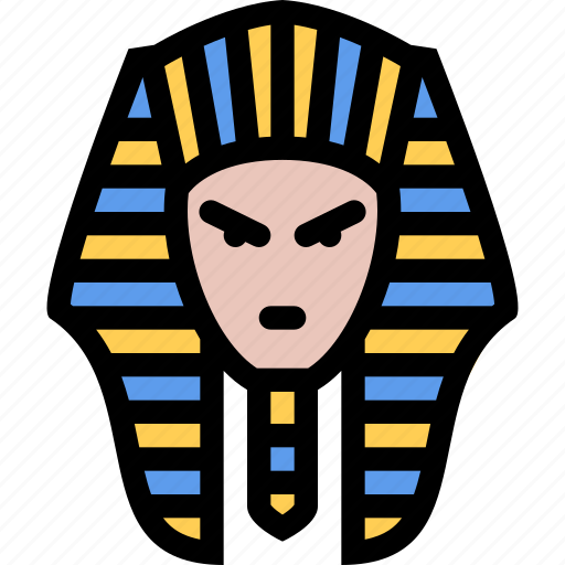civilization, culture, egypt, nation, pharaoh icon