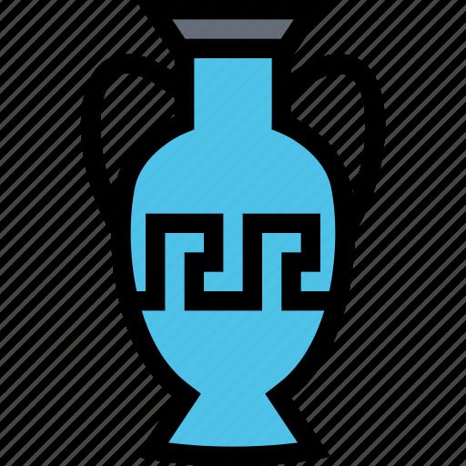 civilization, culture, greece, nation, vase icon
