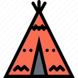 civilization, culture, indians, nation, wigwam icon