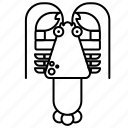 food, lobster, sea icon