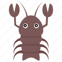 homaridae, lobster, nephropidae, sea life, seafood icon