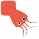animal, cartoon animal, fish, sealife, squid icon