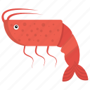 crustacean, prawn, sea life, seafood animal, shrimp icon