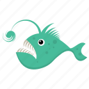 cartoon fish, fish, sea animal, sea life, tigerfish icon