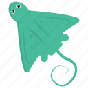 animal, fish, manta ray, sea life, stingray icon