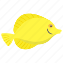 aquatic fish, fish, freshwater fish, tropical fish, yellow tang icon