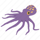 animal, cartoon octopus, octopus, seafood, sealife icon