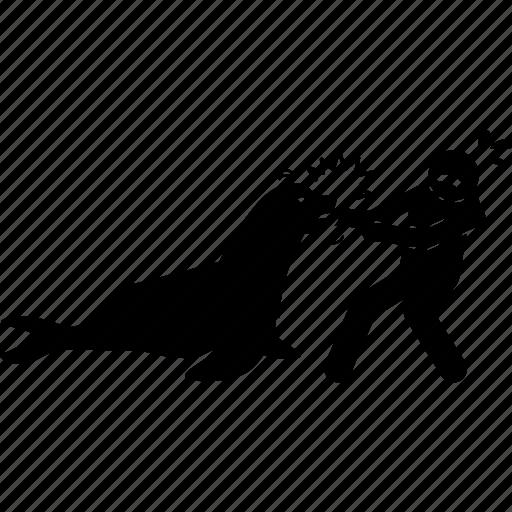 attack, bite, hand, human, sea lion, seal icon