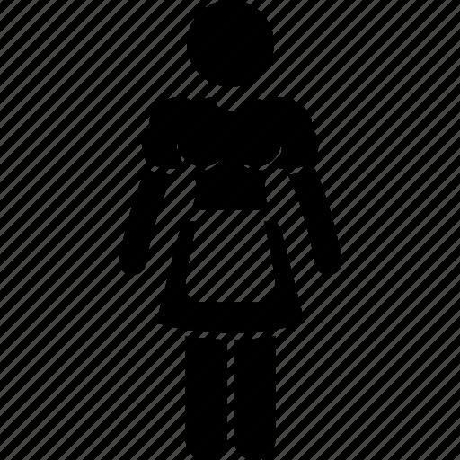 attire, clothing, costume, maid, occupation, servant, uniform icon