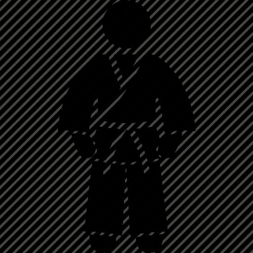 attire, clothing, costume, karate, martial art, occupation, uniform icon