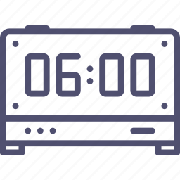 alarm, clock, digital, time icon