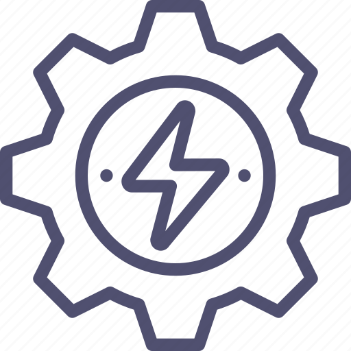 energy, gear, generation, process, production, work icon