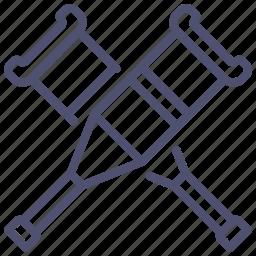 crutches, help, medicine icon