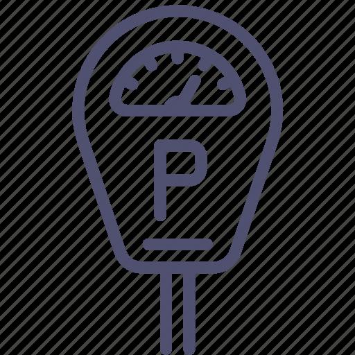 machine, meter, parking icon