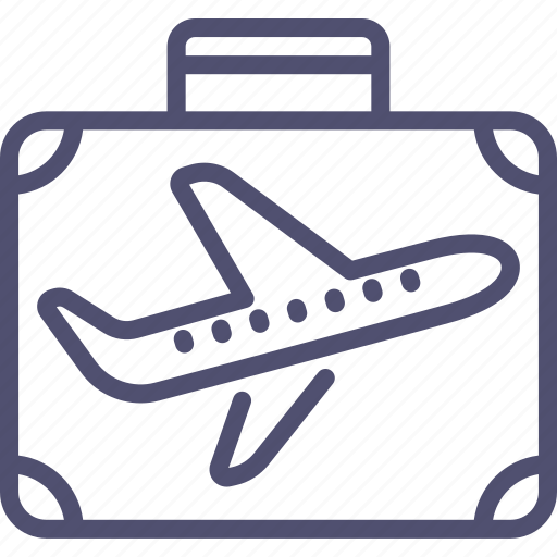 business, flight, luggage, suitcase, travel, trip icon