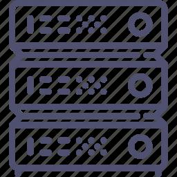 data, database, hosting, rack, server icon