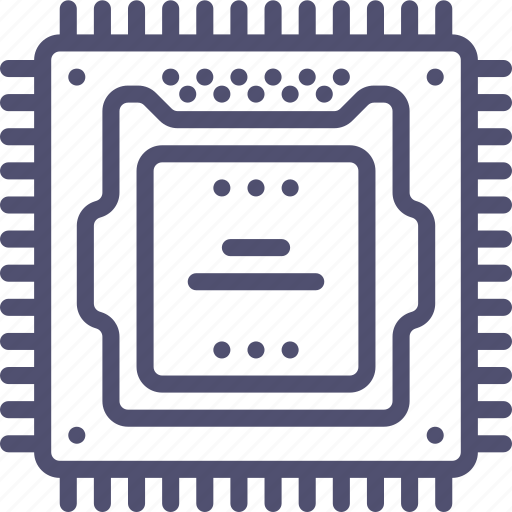 computer, hardware, microchip, processor, technology icon