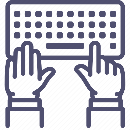 editor, hands, keyboard, type, work, writer icon