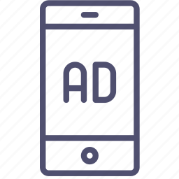 ad, advertise, advertisement, mobile, sponsor icon