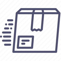 box, delivery, fast, package, product icon