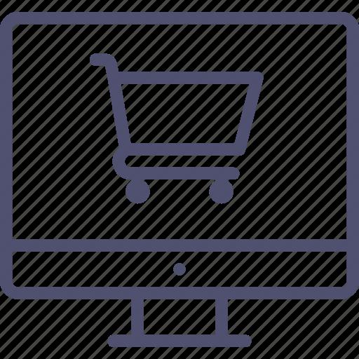cart, computer, digital, ecommerce, online, shop, store icon