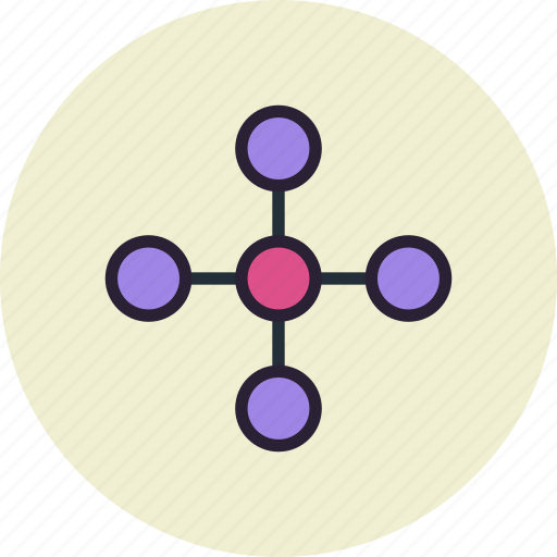 central, centralized, hierarchy, link, net, network, share icon