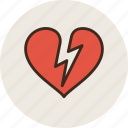 attack, broken, heart, infarct, shock icon