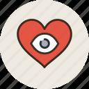 appearance, eyes, heart, love, loving