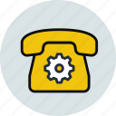 call, communication, contact, device, phone, preferences icon